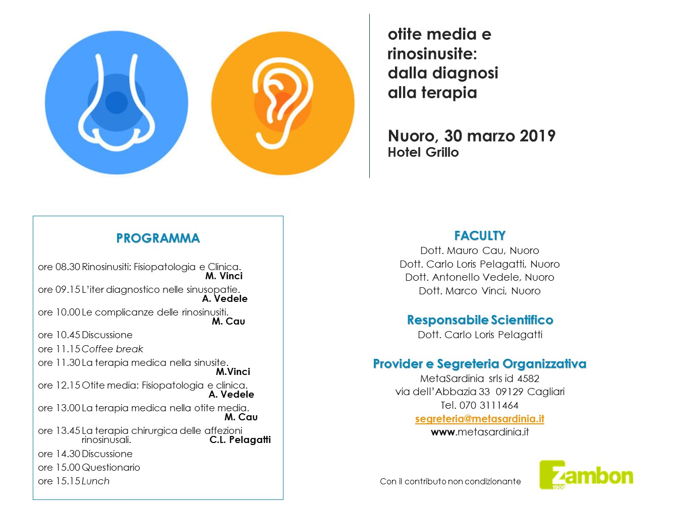 OTITE MEDIA E RINOSINUSITE: DALLA DIAGNOSI ALLA TERAPIA